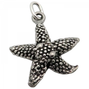 Vintage Sterling Silver Starfish Ocean Theme Charm Pendant